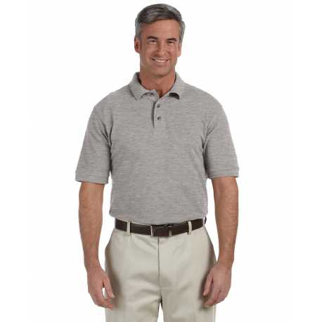 Harriton M200T Men's Tall 6 oz. Ringspun Cotton Pique Short-Sleeve Polo