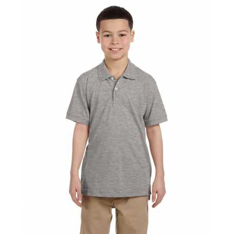Harriton M265Y Youth 5.6 oz. Easy Blend Polo