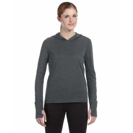 All Sport W3101 Ladies' Performance Triblend Long-Sleeve Hooded Pullover with Runner's Thumb