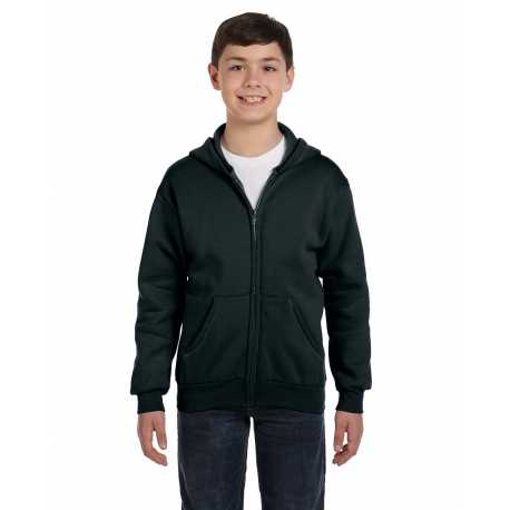 Hanes P480 Youth 7.8 oz. EcoSmart 50/50 Full-Zip Hood