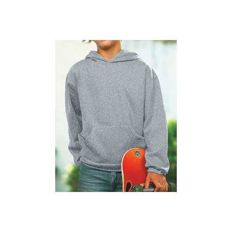 LAT 2296 Youth Fleece Hooded Pullover Sweatshirt With Pouch Pocket