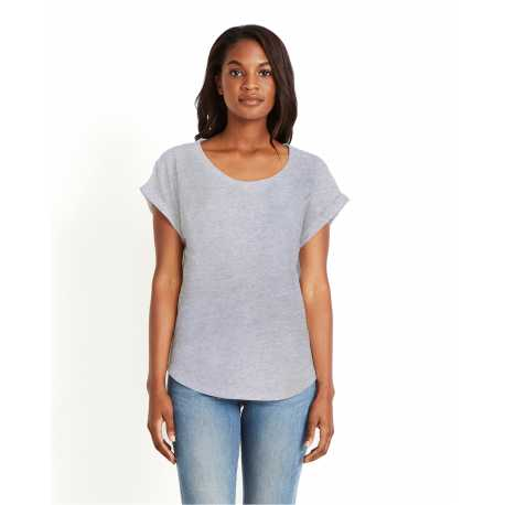 Next Level 6360 Ladies' Dolman with Rolled Sleeves