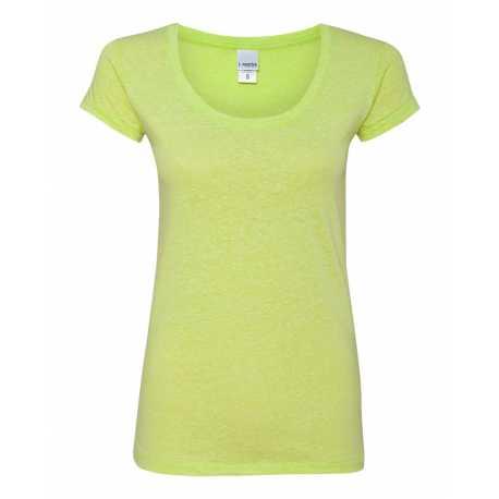 J America JA8260 Ladies Twisted Slub Jersey Scoopneck T-Shirt