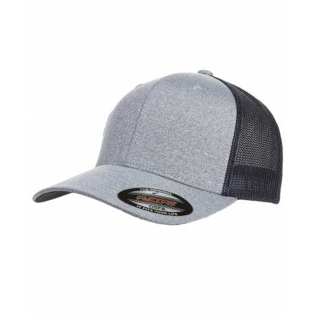 Flexfit Y6311 Adult Poly Melange Stretch Mesh Cap