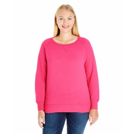 LAT 3862 Ladies' Curvy Slouchy French Terry Pullover