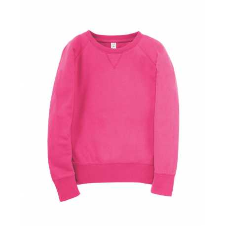 LAT 2652 Girl's Slouchy French Terry Pullover