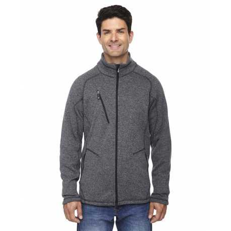 North End Sport Red 88669 Men's Peak Sweater Fleece Jacket