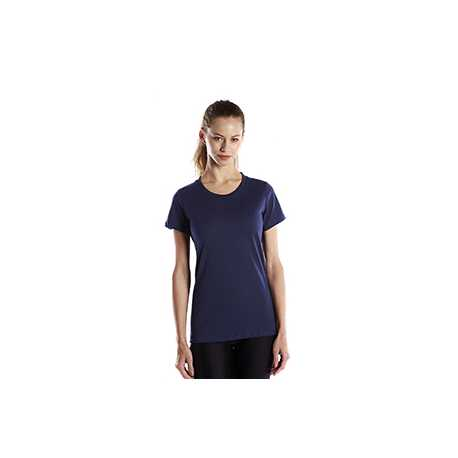 US Blanks US100R Ladies' 5.8 oz. Short-Sleeve Recover Yarn Crewneck