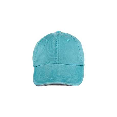 Anvil 166 Solid Low-Profile Sandwich Trim Pigment-Dyed Twill Cap