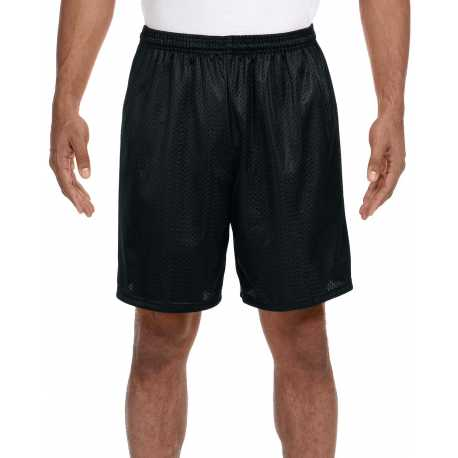 A4 N5293 Adult Seven Inch Inseam Mesh Short
