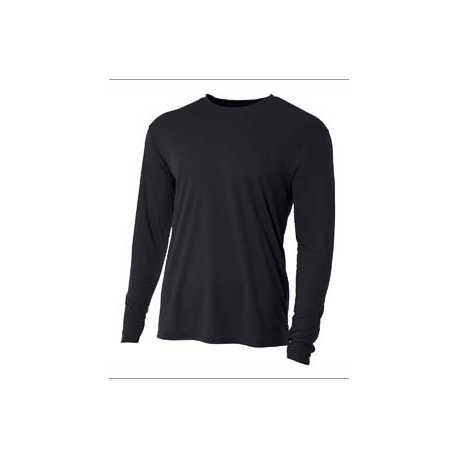 A4 NB3165 Youth Long Sleeve Cooling Performance Crew Shirt