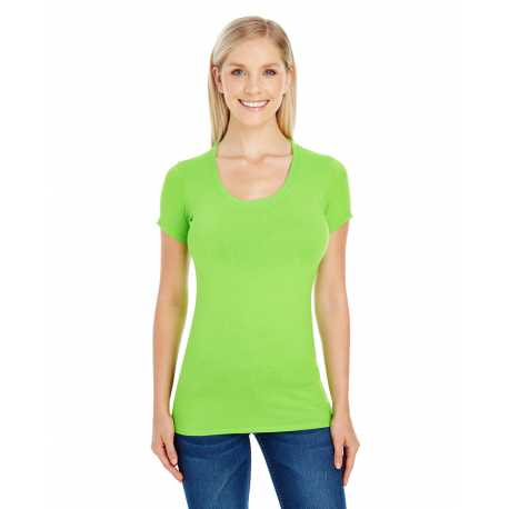 Threadfast Apparel 220S Ladies' Spandex Short-Sleeve Scoop Neck T-Shirt