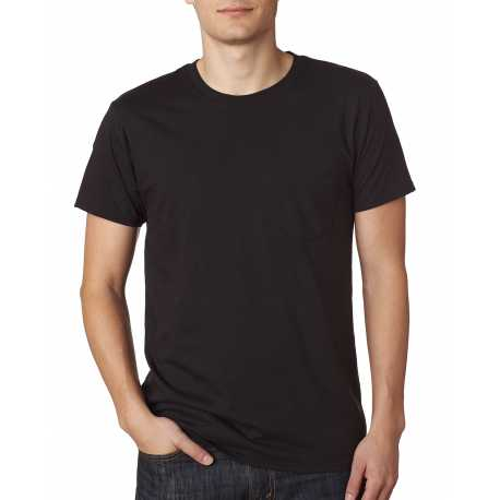 Hanes 498P Men's 4.5 oz., 100% Ringspun Cotton nano-T T-Shirt with Pocket