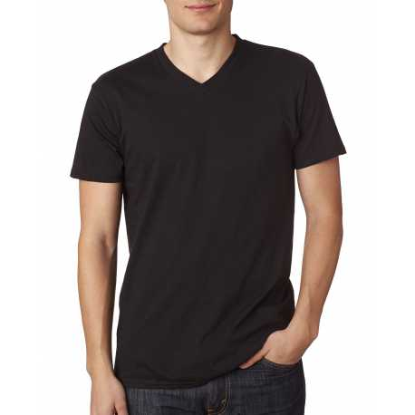 Hanes 498V Men's 4.5 oz., 100% Ringspun Cotton nano-T V-Neck T-Shirt