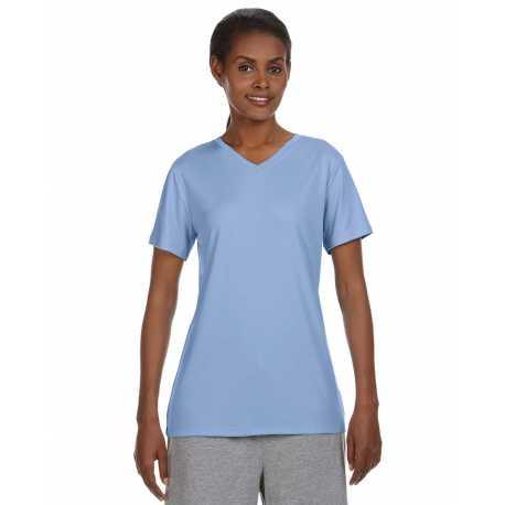 Hanes 483V Ladies' Cool DRI with FreshIQ V-Neck Performance T-Shirt