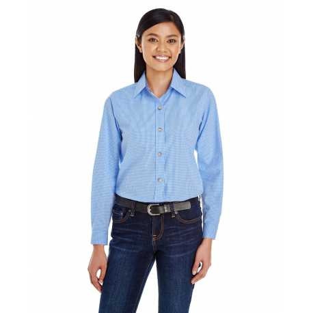 Backpacker BP7036 Ladies' Yarn-Dyed Micro-Check Woven