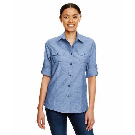 Burnside B5255 Ladies Chambray Woven Shirt