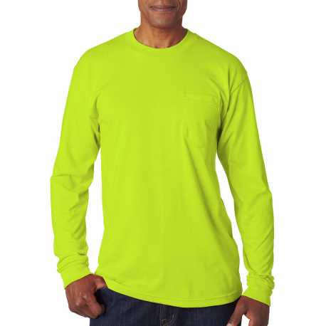 Bayside BA1730 Adult Adult Long-Sleeve Tee with Pocket