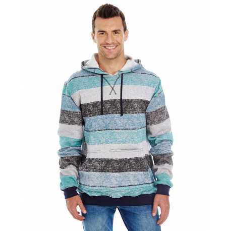 Burnside B8603 Men's Printed Stripe Marl Pullover