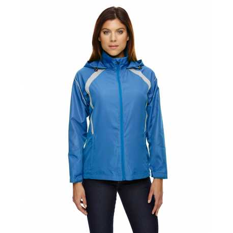 North End 78168 Ladies' Sirius Lightweight Jacket with Embossed Print