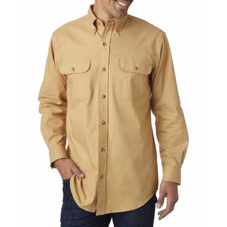 Backpacker BP7005 Men's Solid Flannel Shirt