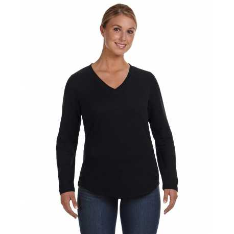 LAT 3761 Ladies' V-Neck French Terry Pullover