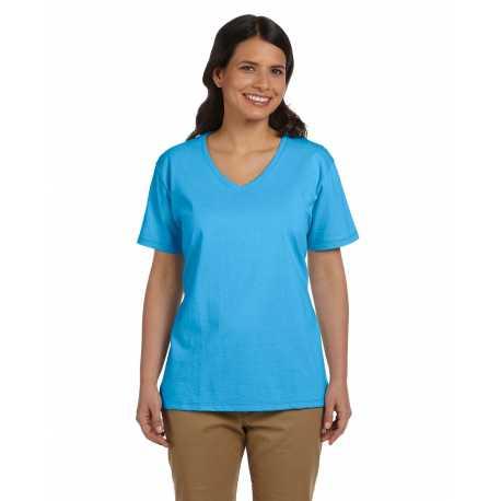 Hanes 5780 Ladies' 6.1 oz. Tagless V-Neck T-Shirt