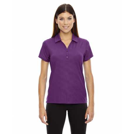 North End Sport Red 78659 Ladies' Maze Performance Stretch Embossed Print Polo