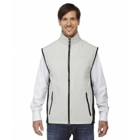 North End 88127 Men's Three-Layer Light Bonded Performance Soft Shell Vest