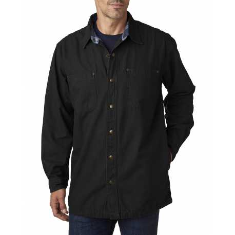 Backpacker BP7006 Men's Canvas Shirt Jacket with Flannel Lining