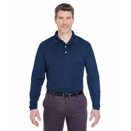 UltraClub 8445LS Adult Cool & Dry Long-Sleeve Stain-Release Performance Polo