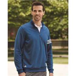 Adidas A190 ClimaLite 3-Stripes French Terry Quarter-Zip Pullover