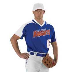 Alleson Athletic 521VNY Youth V-Neck Baseball Jersey