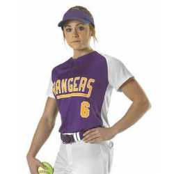 Alleson Athletic 522PDWG Girls' Two Button Fastpitch Jersey
