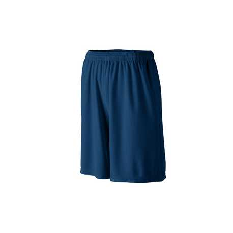 Augusta Sportswear 803 Longer Length Wicking Short with Pockets