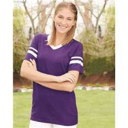 Augusta Sportswear 360A V-Neck Jersey with Striped Sleeves