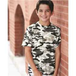 Badger 2181 Camo Youth Short Sleeve T-Shirt