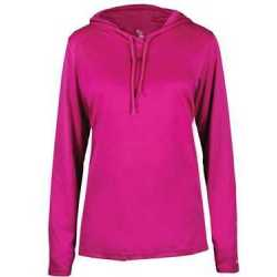 Badger 4165 Women's B-Core Long Sleeve Hooded Tee