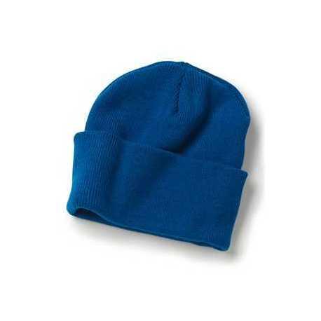 "Bayside 3825 USA-Made 12"" Knit Beanie with Cuff"