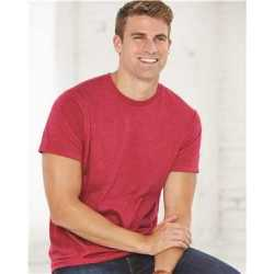 Bayside 5010B USA Made Ringspun 50/50 Heather Unisex T-Shirt
