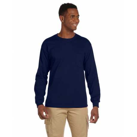 Gildan G241 Adult Ultra Cotton 6 oz. Long-Sleeve Pocket T-Shirt