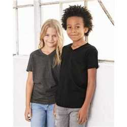 Bella + Canvas 3005Y Youth Short Sleeve V-Neck Jersey Tee