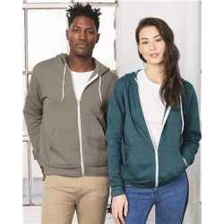 Bella + Canvas 3739 Unisex Sponge Fleece Full-Zip Hoodie