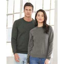 Bella + Canvas 3901 Unisex Sponge Fleece Raglan Crewneck Sweatshirt