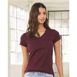 Bella + Canvas 6005 Women's Jersey Short Sleeve V-Neck Tee