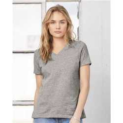 Bella + Canvas 6405 Women's Relaxed Jersey Short Sleeve V-Neck T-Shirt