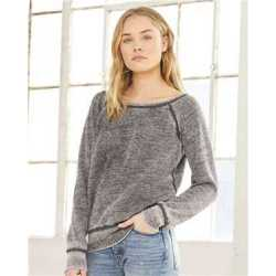 Bella + Canvas 7501 Women's Sponge Fleece Wide Neck Sweatshirt