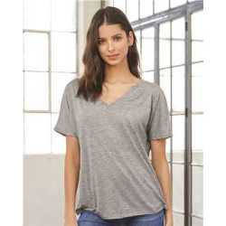 Bella + Canvas 8815 Women's Slouchy Short Sleeve V-Neck Tee