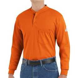 Bulwark SEL2 Long Sleeve Tagless Henley Shirt