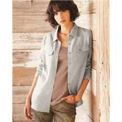 Burnside B5200B Women's Long Sleeve Solid Flannel Shirt